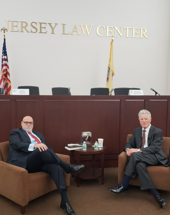 Angelo J. Genova Interviews Governor Florio at NJICLE Center