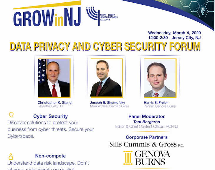 Image for Harris Freier to Present on Cyber Security at North Jersey Jewish Business Alliance Forum