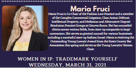 Image for Maria Fruci to Participate on Panel at Seton Hall University School of Law Intellectual Property Law Society's
