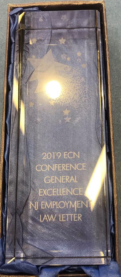 Genova Burns Honored with 2019 General Excellence Award at the Employment Counsel Network Awards