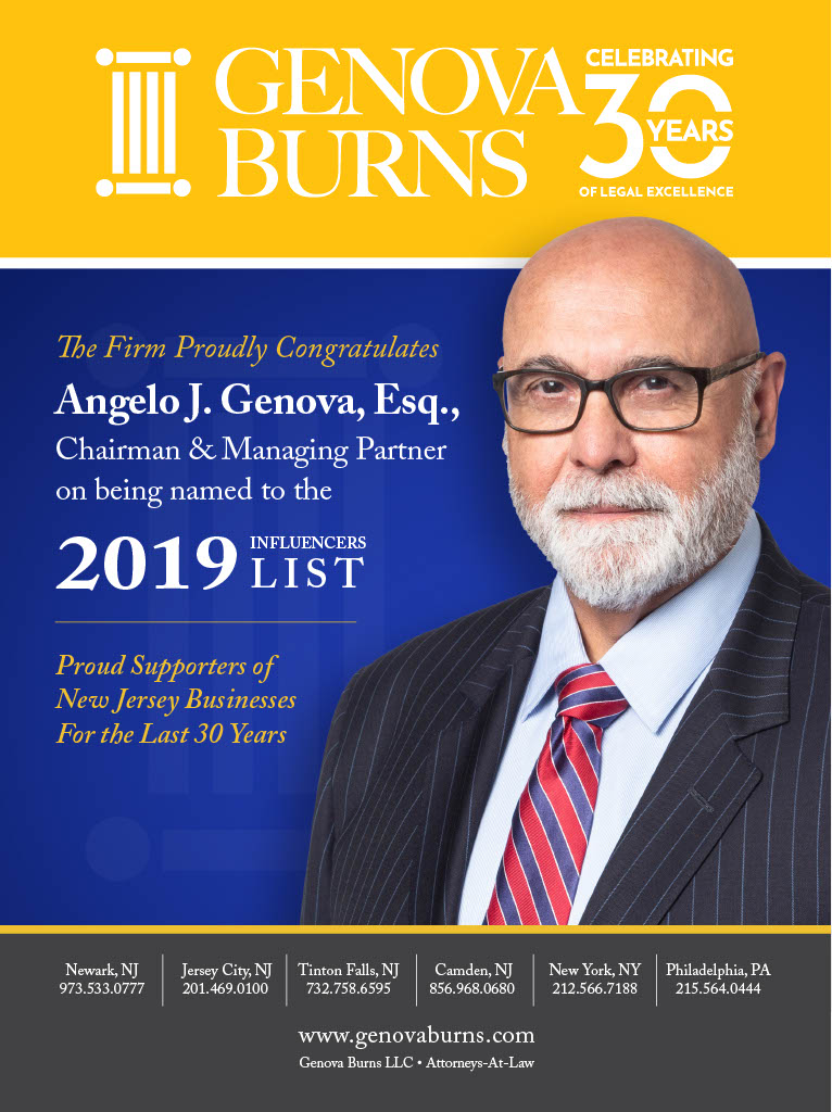 Angelo J. Genova Named to the 2019 Influencers List