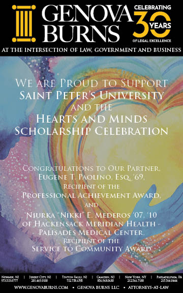 Eugene T. Paolino to be Honored by Saint Peter's University