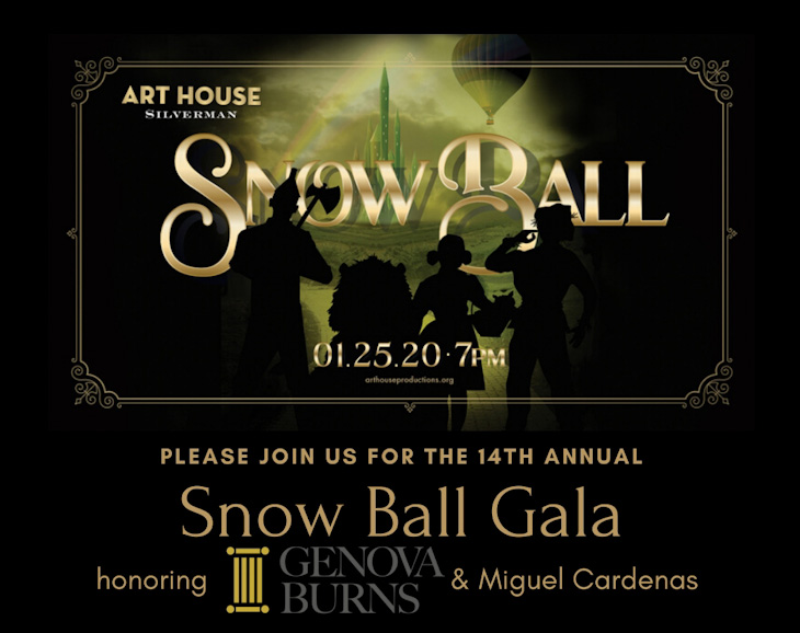 Art House Snow Ball Gala Invite