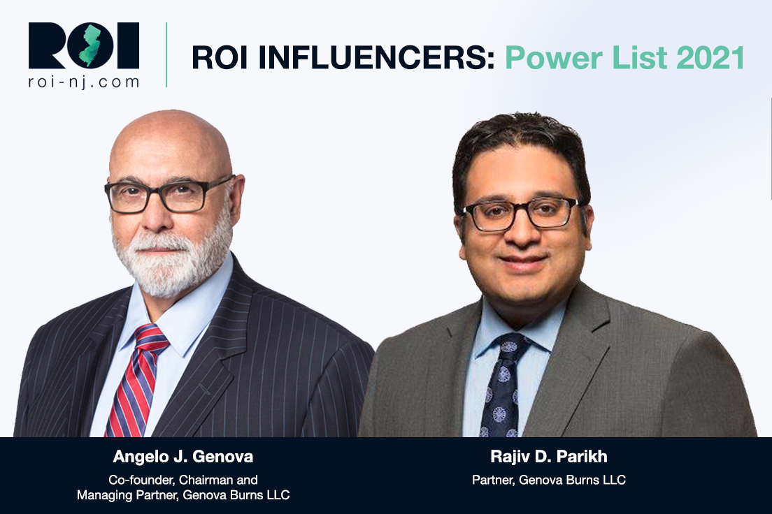 Image for Angelo Genova and Rajiv Parikh Named to ROI-NJ: Power List 2021 - Lawyers