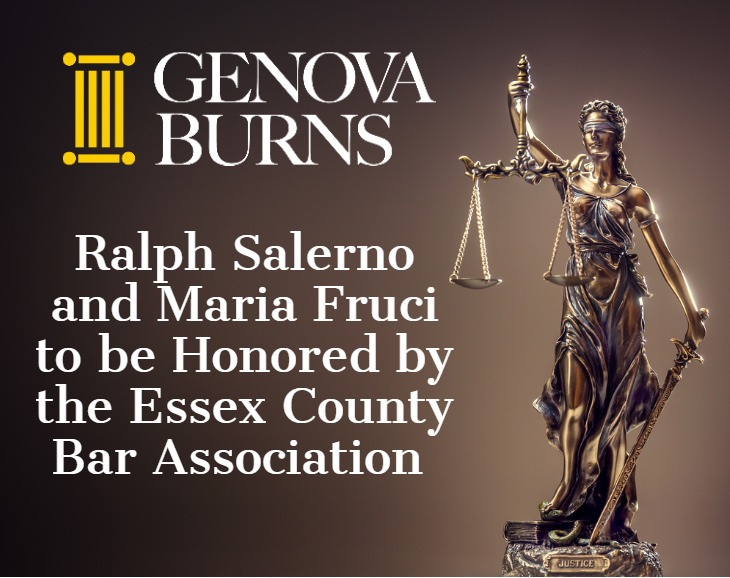 Ralph Salerno and Maria Fruci to be Honored by the Essex County Bar Association