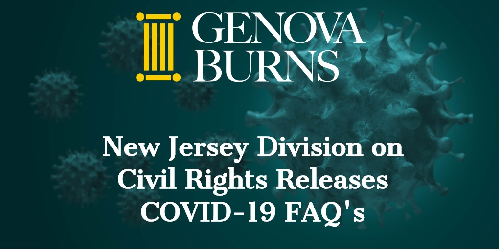 New Jersey Division on Civil Rights (DCR) Releases COVID-19 FAQ's