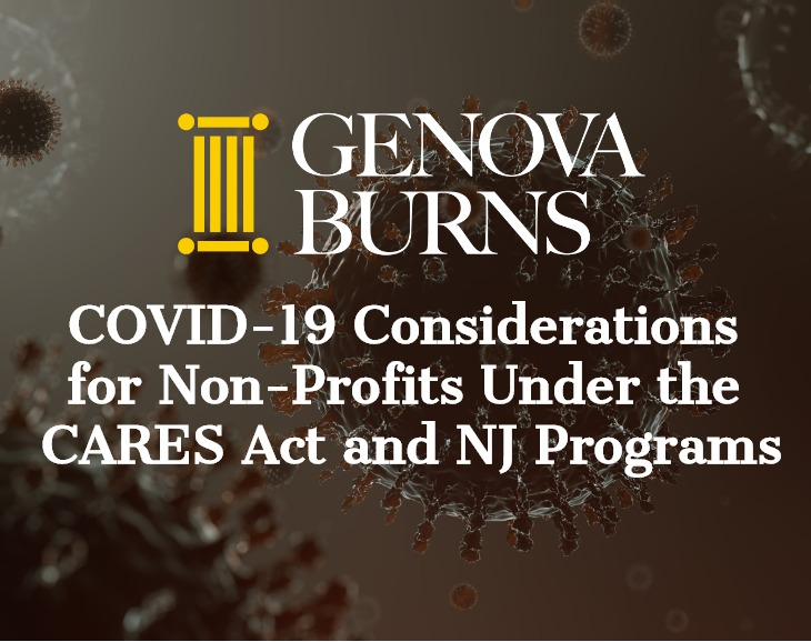 Image for COVID-19 Considerations for Non-Profits Under the CARES Act and NJ Programs