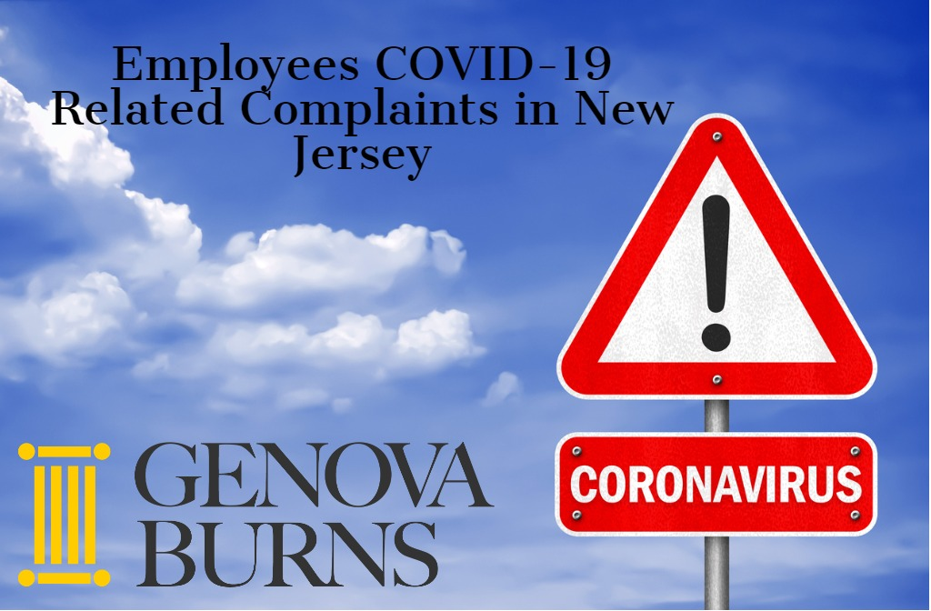 Image for EMPLOYEES COVID-19 RELATED COMPLAINTS IN NEW JERSEY