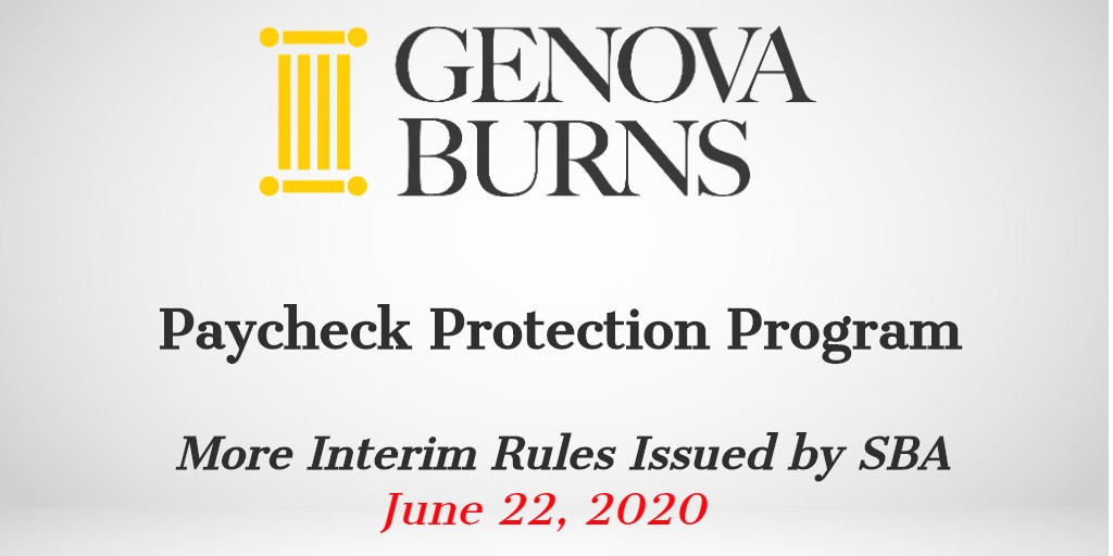 Image for Paycheck Protection Program: More Interim Rules Issued by SBA
