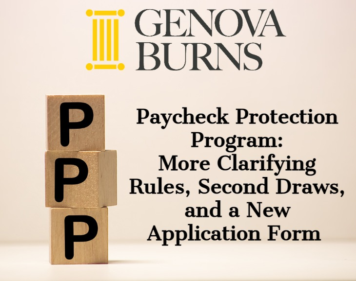 Paycheck Protection Program: More Clarifying Rules, Second Draws and a New Application Form