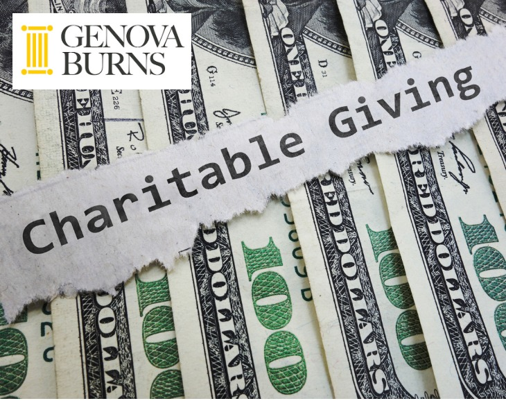 Words charitable giving over $100 bills