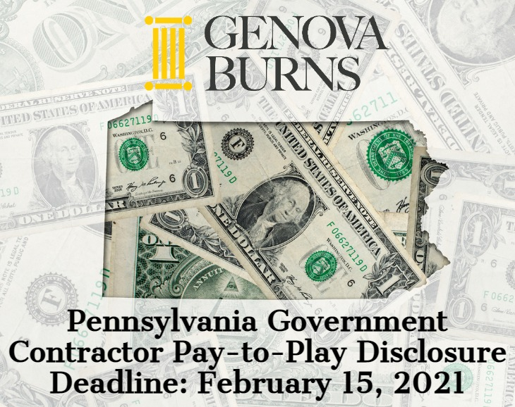 Image for Pennsylvania Government Contractor Pay-to-Play Disclosure Deadline – February 15, 2021