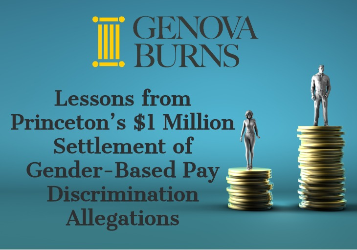 Image for Lessons from Princeton's $1 Million Settlement of  Gender-Based Pay Discrimination Allegations