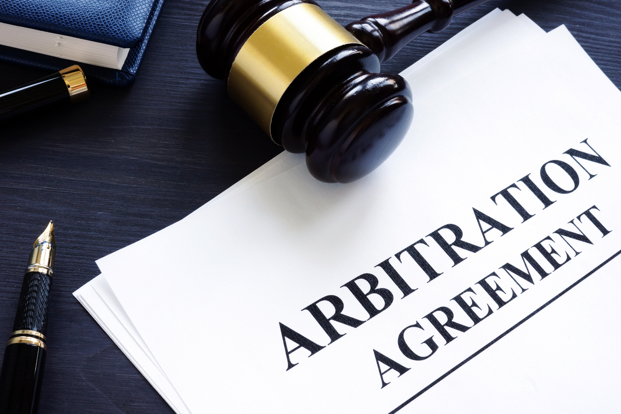 Arbitration Agreement and gavel